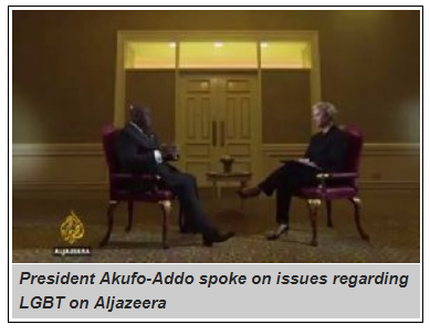 How Aljazeera reported Akufo-Addo's comments on homosexuality
